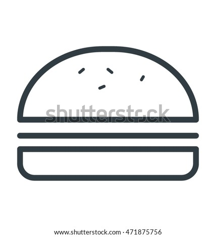 Burger Colored Vector Icon