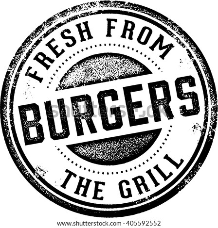 Burgers Fresh from the Grill - stock vector