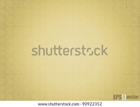 Burlap background pattern. Vector - stock vector