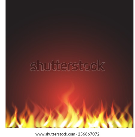 Burn flame fire vector - stock vector