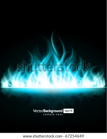Burn flame fire vector background - stock vector