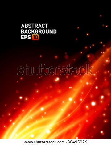 Burn flame fire vector background. Eps 10. - stock vector
