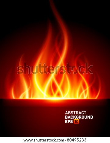 Burn flame fire vector background. Eps 10.