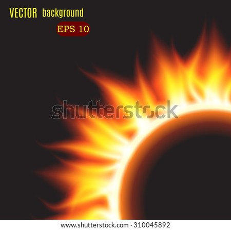 Burn flame fire vector background. Vector illustration - stock vector
