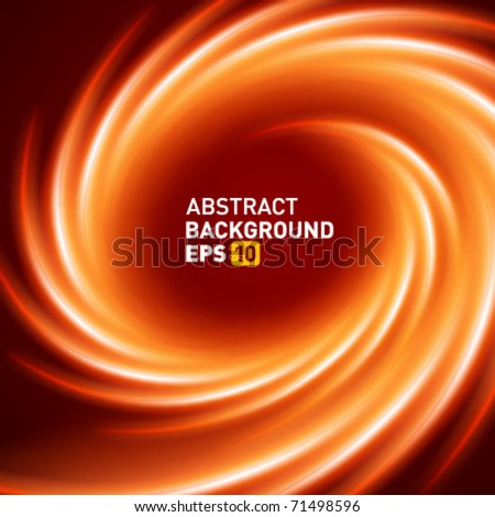 Burn smooth twist light lines vector background - stock vector