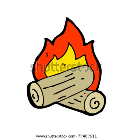 burning logs cartoon