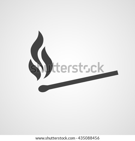Burning matches vector icon, matches sign or symbol