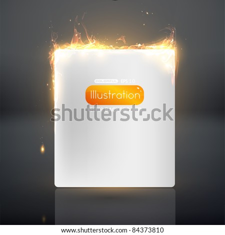 Burning paper. Vector eps 10. - stock vector