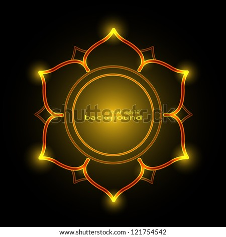 Burning shiny lotus background vector - stock vector