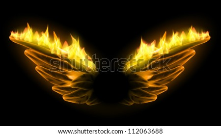 burning vector wings