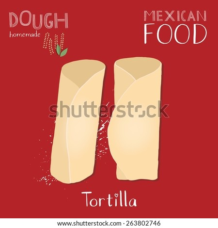 Burrito icon isolated on hot red background - stock vector