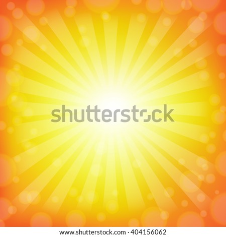 Burst Background With Gradient Mesh, Vector Illustration - stock vector