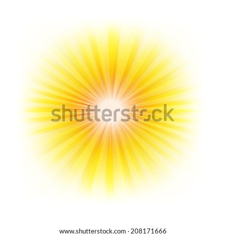 Burst Poster With Beams, With Gradient Mesh, Vector Illustration - stock vector