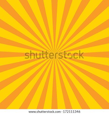 Burst vector background - Yellow - stock vector
