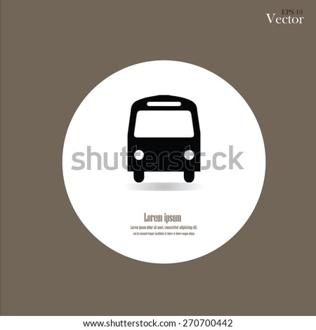 Bus icon.bus.bus icon vector.vector illustration. - stock vector