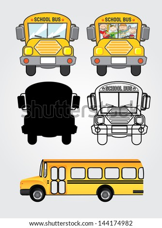 bus icons over white background vector illustration