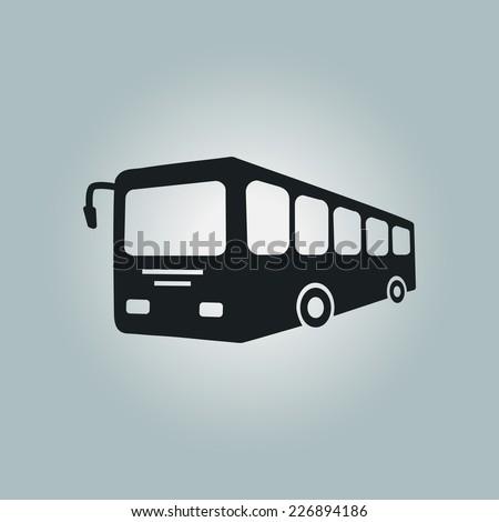 Bus sign icon. Public transport symbol. - stock vector