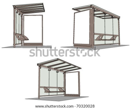 bus stop billboard - stock vector