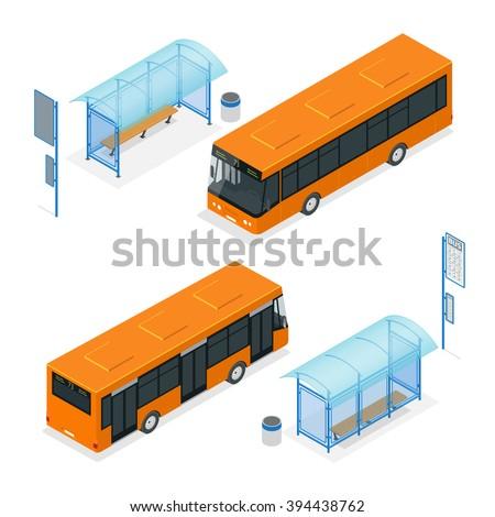 Bus stop Icon, Bus stop traffic, Bus stop transport, Bus stop Vector, Bus stop isometric, Bus stop exterior, Bus stop 3d, Bus stop city, Bus stop city transport, Bus stop isolated, bus stop people - stock vector
