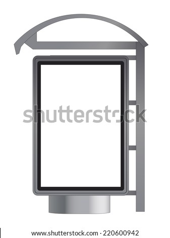 Bus Stop. Template for Branding. Vector Illustration.