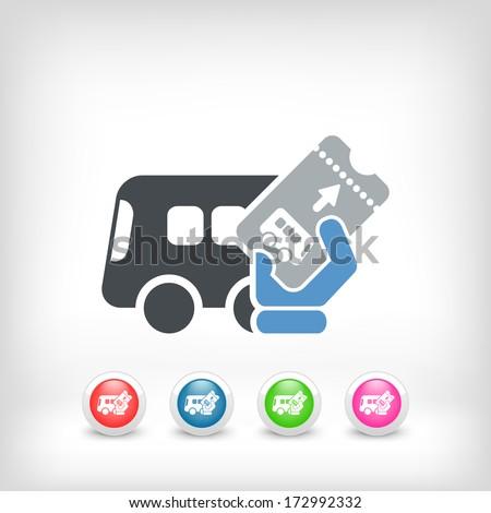Bus ticket - stock vector