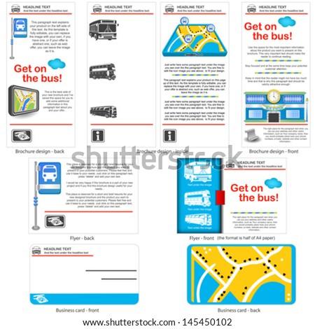 8 different bus types stock vector 34716820 shutterstock