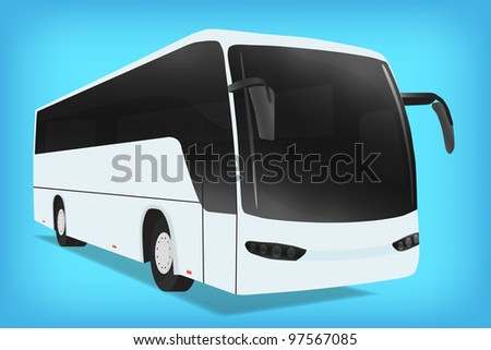 Bus, vector, 10eps. - stock vector
