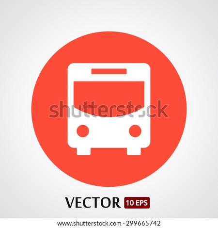 Bus   vector icon - stock vector