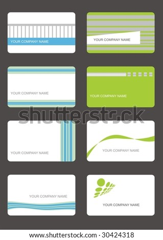 busieness cards (set 5) - stock vector