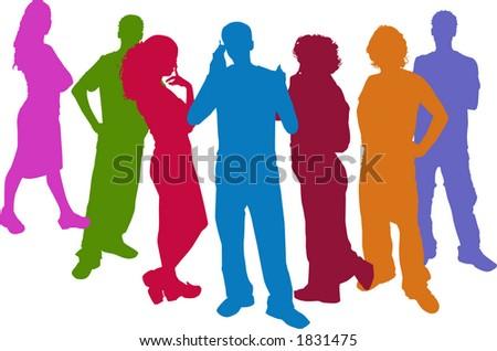 busines people - stock vector