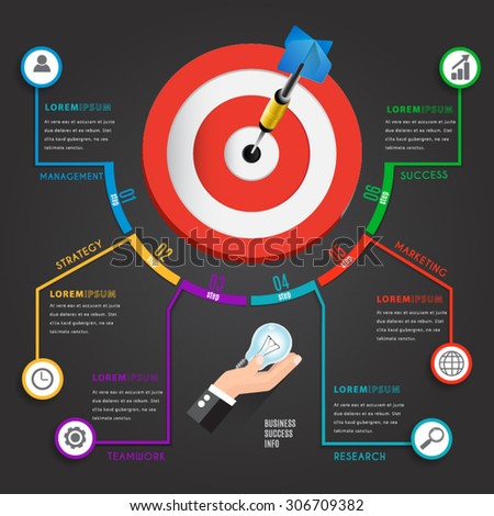 Busines target marketing concept  infographic chart. - stock vector