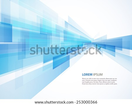 Business abstract blue background. Vector illustration. - stock vector