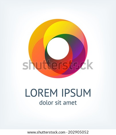 Business Abstract Circle icon. Corporate, Media, Technology - stock vector