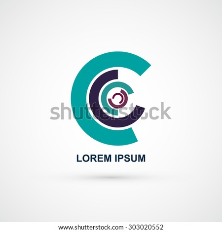 Business Abstract Circle icon Corporate Technology logo vector  - stock vector