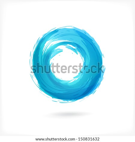 Business Abstract Circle icon. vector logo design template for Corporate, Media, Technology style. - stock vector