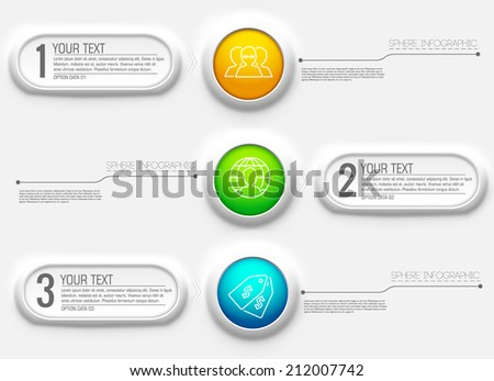 Business abstract 3D digital Infographic background concept. Vector illustration design  - stock vector