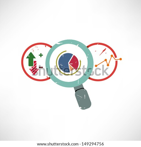 business analysis, business report analysis - stock vector