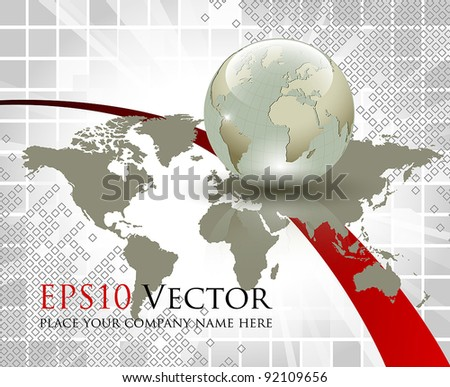 Business and communication abstract concept - vector illustration - stock vector