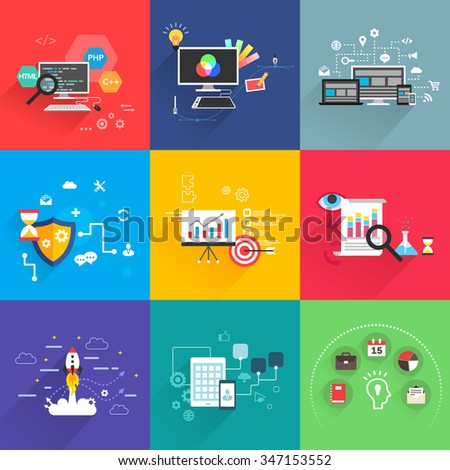 business and development templates vector - stock vector