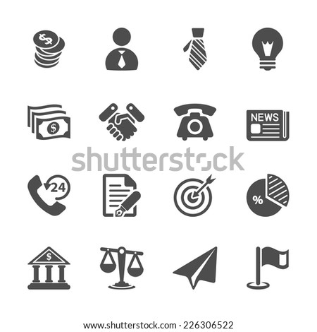 business and economic icon set, vector eps10. - stock vector
