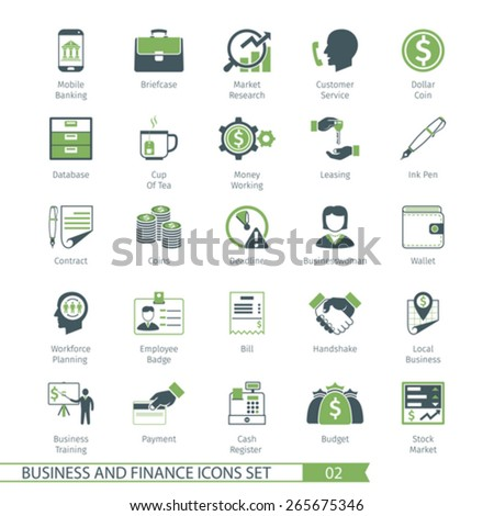 Business and FIinance Icons Set 02 - stock vector