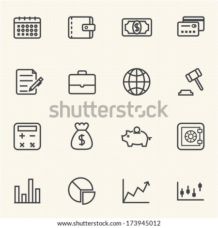 Business and Finance Icon set - stock vector