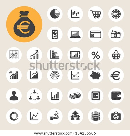 Business and finance icon set.Illustration eps10 - stock vector