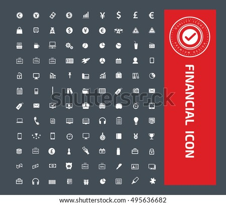 Business and finance icon set,vector