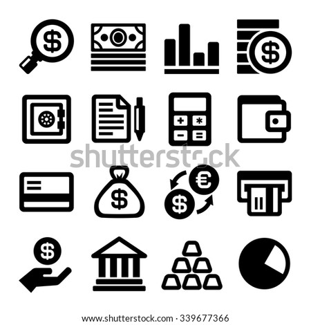 Business and Finance Icons Set. Vector - stock vector