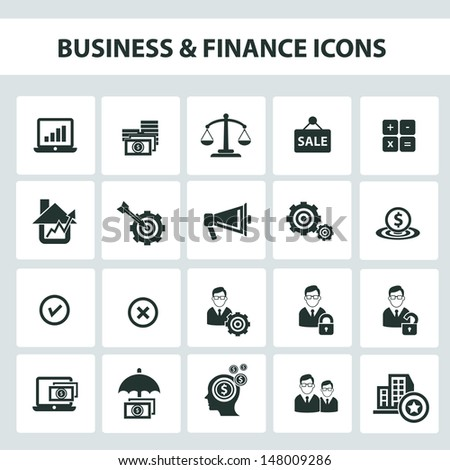 Business and finance icons,vector - stock vector