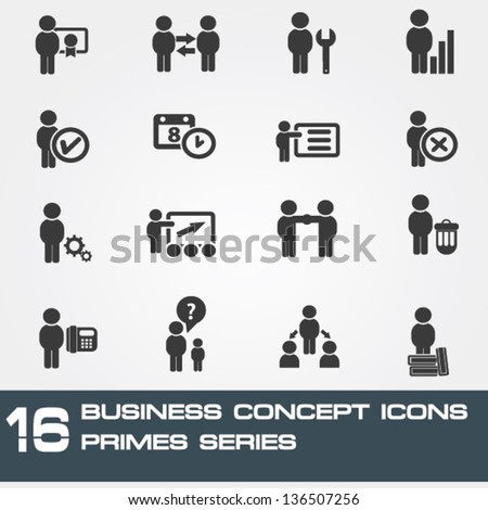 Business and human management icons,vector - stock vector