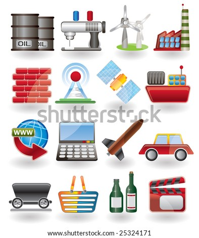 Business and industry icon - stock vector