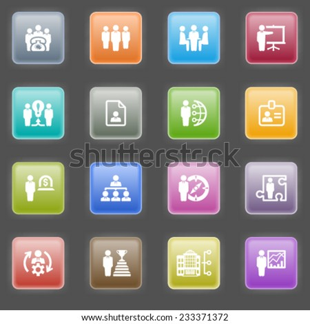 Business and management icons. - stock vector