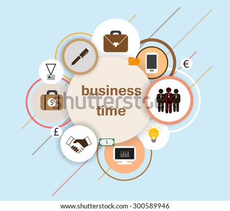 business and money vector theme. Flat design vector illustration - stock vector